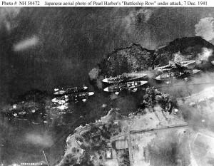 Ariel view of Pearl Harbor