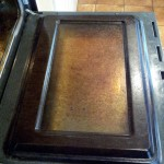 KitchenAid Double Oven Door Before Cleaning