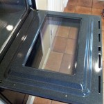 KitchenAid Double Oven Door After Cleaning