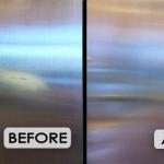 GE Profile refrigerator scratch removal